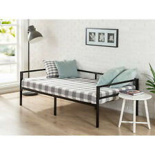 Metal Twin Day Bed Seating Furniture Sleeping Room Slat Support Black Frame New