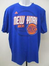New New York Knicks Mens Size XL XLarge Blue Adidas Shirt MSRP $22