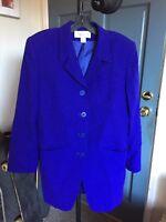 Jones New York Size 10 Wool Jacket Blazer Lined
