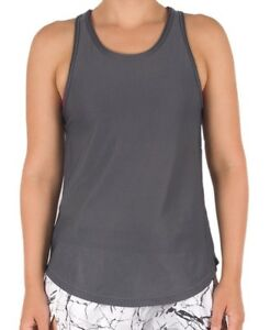 Smoky Mesh Top - Women's Gym & Yoga Top – Charcoal- Bonds  –40% Off RRP- New