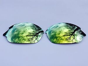 ETCHED POLARIZED 24k GOLD CUSTOM MIRRORED REPLACEMENT OAKLEY ROMEO 2.0 LENSES