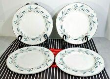 "LOT: 4  Johnson Bros Snowhite Autumn Song 8"" Salad Plates Blue Wheat 1940's EXC+"