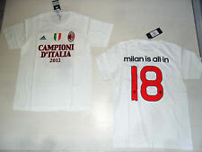 AC Milan Is English Style in T-Shirt S T-Shirt Campione D'Italia 2011 Adidas