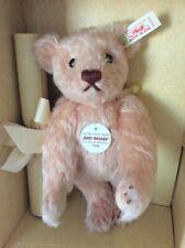 """Steiff 9"""" Japan Baby Masako Curly Rose Mohair Teddy Bear Limited Edition"""