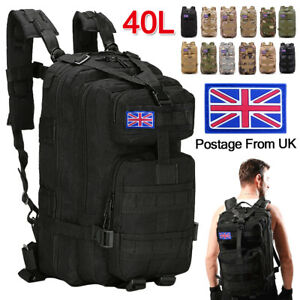 40L Military Tactical Army Backpack Rucksack Camping Hiking Trekking Bag Outdoor