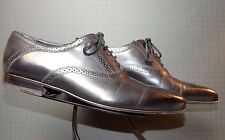 Men's Pal Zileri Italy Black Leather Edgy Brogue Oxford Sz 42.5/9.5 MINTY!!