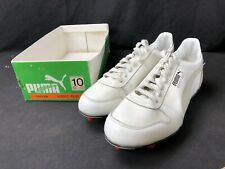 Vintage Puma Rocket Plus Shoes Deadstock Size 10 White Gray Cleats Football