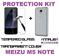 CUSTODIA COVER + PELLICOLA VETRO TEMPERATO MEIZU M5 NOTE CASE + TEMPERED GLASS