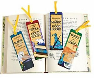 Pack of 12 - Wizard Bookmarks - Magic Reading Harry Potter Party Bag Fillers