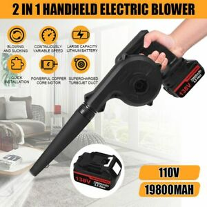 Portable Cordless Leaf Blower Vacuum Dust 2 in 1 Kit with 19800mAh Battery