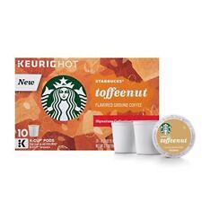 Starbucks Toffeenut Keurig Pods Coffee 10 Single Serve K-Cups (Pack of 2)