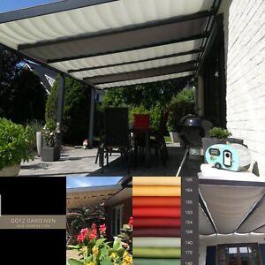 Premium Seilspannmarkise Beschattung Terrassenüberdachung Glasdach Wintergarten