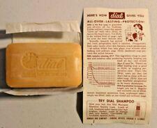 Vintage Dial deodorant Bath Soap Bar NOS 5 oz from 60s NOS -- 906