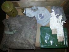 NVA Gasmaskenset Gasmaske Handschuhe UBS Poncho DEKO 7 teilig