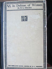 """1926 """"In Defense Of Women"""" by H. L. Mencken (The Sage of Baltimore) Rare HB book"""
