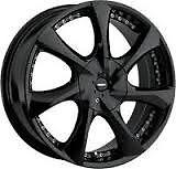 Zora 948 Black Wheel 20x8.5 5x115 5x120 +15 offset fits Dodge, BMW, 300C