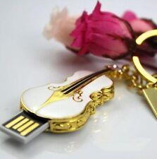 Portable Violin 8GB USB 2.0 Memory Stick Flash Pen Drive Flash Disk For keychain