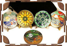 """'12 Compass Rose FIVE GEOCOIN SET w/Pouch - Including """"Congo"""" LE Limited Edition"""