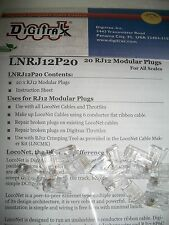 Digitrax LNRJ12P20 RJ12 Modular Plugs 20 pack NEW  Bob The Train Guy