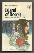 Vintage 1979 Island of Deceit Alix Andre Romance Suspense Paperback Novel Book