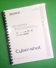 LASER PRINTED Sony DSC HX7 HX7V Manual Guide 56 Pages