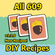 New Horizons: All 609 DIY Recipes! Updated to v1.3.0!