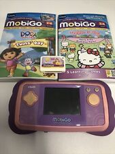 Pink Vtech Mobigo With 3 Games - Untested With No Charger Included