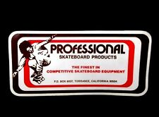 Vintage 1980's Professional Skateboard Products skateboarding Sticker decal old