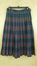Vintage pendleton tartan plaid ginghham knife pleated size 10 skirt