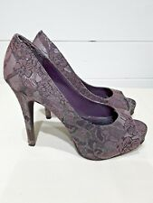 New Look Shoes - Size 3 - Purple, Black, Silver - Party, Cruise, Evening ~ 1352