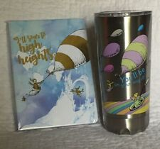 2 Piece Lot Dr Seuss You'll Be on Your Way Up! Vacuum Insulated Travel Tumbler