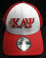 Kappa Alpha Psi Red White New Era NE204 Snap Back with Red Letters Diamond Patch