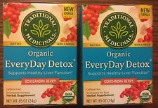 Organic Tea EveryDay Detox Supports Healthy Liver Function Caffeine Free 32 Bags