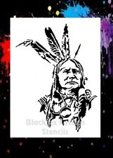Indian Warrior 02 Airbrush Stencil,Template