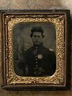 Civil War Hand Colored Heavily Armed Soldier Tintype.  1854 Lorenz & Colt Pocket for sale