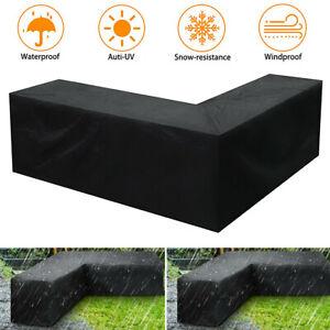 Garden Waterproof Patio Furniture Cover Rattan Corner Sofa Table Cube Outdoor
