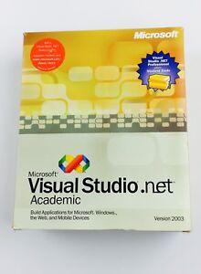 Microsoft Visual Studio Net 2003 Academic Version  Very Good Made In USA