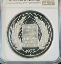 1973 INDIA SILVER 20 RUPEES FAO GROW MORE FOOD NGC PF 68 ULTRA CAMEO LOW MINTAGE