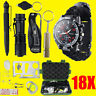 18 IN 1 Outdoor SOS Emergency Equipment Kit Camping Hiking Survival Gear Sets