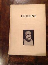 PLATONE FEDONE D. MARTELLA ED. CORSO 1952