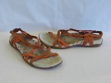 """Merrell """"San Remo"""" Shades of Orange Leather Strappy Sandals - 10M/41 - GR8!"""
