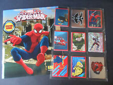 PANINI MARVEL ULTIMATE SPIDER-MAN  COMPLETE 192 STICKER SET & ALBUM