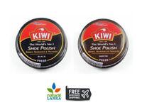 Kiwi Shoe Polish Wax Shine  Balck | Dark Tan Kiwi Boot Polish Kiwi Shine Wax 36g