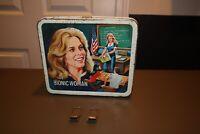 Vintage Bionic Woman Metal Lunch Box 1970's *NO Thermos* Aladdin RARE