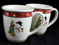Longaberger BLUSTER THE SNOWMAN 2 Mugs GREAT CONDITION