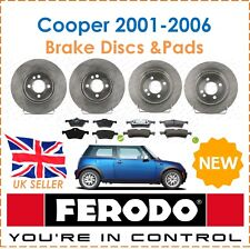 For BMW Mini One Cooper 2001-2006 FERODO Brake Discs & Pads Front & Rear New