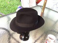 NEW Perfect Borsalino Fedora Wide Brim Fedora Black Hat 7-1/4 58