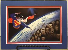"SUPERMAN ""Save The Children"" By ALEX ROSS Pro Matted Print DC Comics JLA"