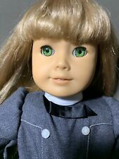 AMERICAN GIRL 18 INCH DOLL BLOND HAIR GREEN EYES WITH GRAY DRESS