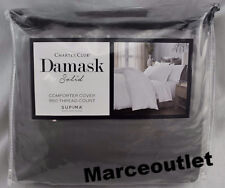 Charter Club Damask Solid 550 Thread Count KING Duvet Cover Stone
